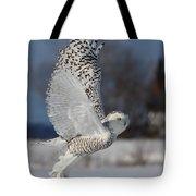 Snowy Angel Tote Bag