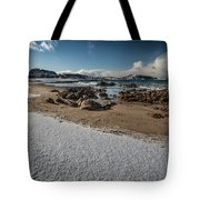 Snowy Beach Tote Bag