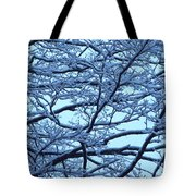 Snowy Branches Landscape Photograph Tote Bag