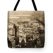 Snowy Central Park New York City Photograph Tote Bag