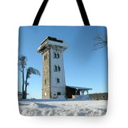 Snowy Cerchov Tote Bag