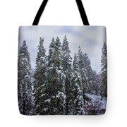 Snowy Christmas At Big Bear Lake Tote Bag