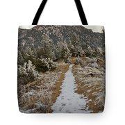 Snowy Colorado Trail Tote Bag
