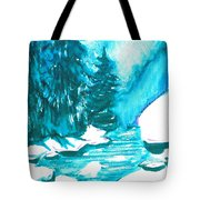 Snowy Creek Banks Tote Bag