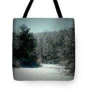 Snowy Creek Bend Tote Bag