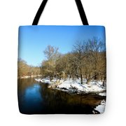 Snowy Creek Morning Tote Bag