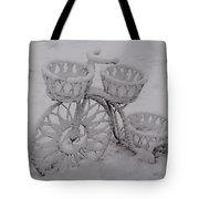 Snowy Cycle Wheel Tote Bag