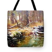 Snowy Day In Acme Tote Bag