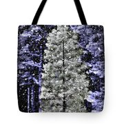 Snowy Day Pine Tree Tote Bag