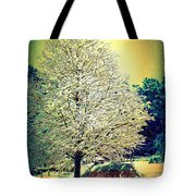 Snowy Days Tote Bag by Donna Bentley