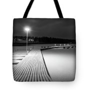 Snowy Dock Tote Bag