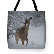 Snowy Doe Tote Bag
