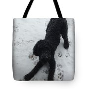 Snowy Dog Tote Bag