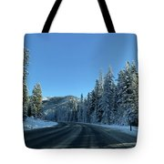 Snowy Drive Tote Bag