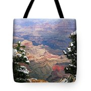 Snowy Dropoff - Grand Canyon Tote Bag