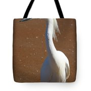 Snowy Egret Tote Bag