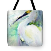 Snowy Egret On Lido Beach Tote Bag