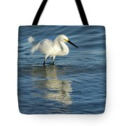 Snowy Egret On The Hunt II Tote Bag