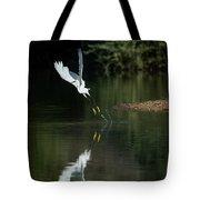 Snowy Egrets 080917-4290-1 Tote Bag