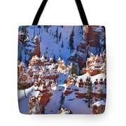Snowy Fairy Castle Tote Bag