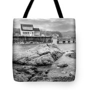 Snowy Fogged In Cove Tote Bag