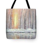 Snowy Glow Tote Bag