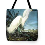 Snowy Heron Tote Bag