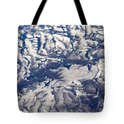 Snowy Landscape Aerial Tote Bag