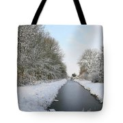 Frozen Scenery Along Canal Tote Bag