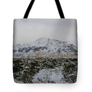 Snowy Lava Fields Iceland Tote Bag