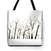Snowy Line Up Tote Bag