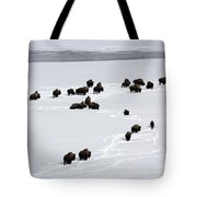 Snowy Migration II Tote Bag