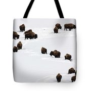 Snowy Migration Tote Bag