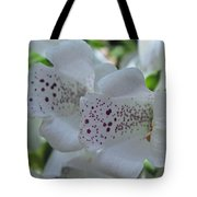 Snowy Mountain Digitalis Tote Bag