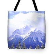 Snowy Mountain Tote Bag by Elena Elisseeva
