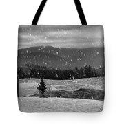 Snowy Mountain Farm Tote Bag