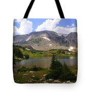 Snowy Mountain Loop 9 Tote Bag