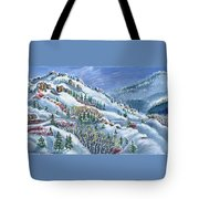 Snowy Mountain Road Tote Bag