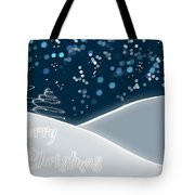 Snowy Night Christmas Card Tote Bag