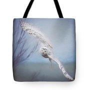 Snowy Owl In Flight Painting 2 Tote Bag