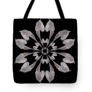 Snowy Owl Snowflake Tote Bag