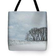 Snowy Pasture Tote Bag