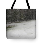 Snowy Patriot Quantico National Cemetery Tote Bag