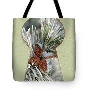 Snowy Pine Keyhole Tote Bag