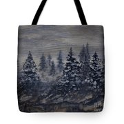 Snowy Pines Tote Bag
