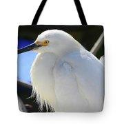 Snowy Profile Tote Bag