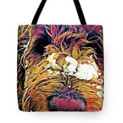 Snowy Pup Tote Bag