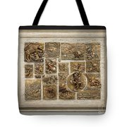 Snowy Range Life - Large Relief Panel Tote Bag