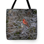 Snowy Red  Tote Bag