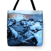 Snowy Reflections Tote Bag